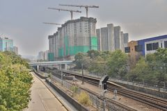 σιδηρόδρομος INTERCITY ΜΕΣΩ του ΤΡΑΙΝΟΥ στο HK στοκ εικόνα με δικαίωμα ελεύθερης χρήσης
