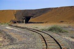σιδηρόδρομος moonta μεταλλ&epsilon Στοκ εικόνα με δικαίωμα ελεύθερης χρήσης