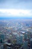 Σικάγο που γέρνουν Στοκ φωτογραφία με δικαίωμα ελεύθερης χρήσης