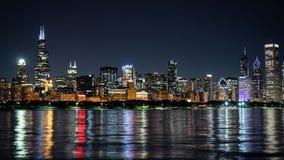 Σικάγο τή νύχτα - καταπληκτικός ορίζοντας - ΣΙΚΑΓΟ, ΗΠΑ - 12 ΙΟΥΝΊΟΥ 2019 στοκ εικόνες