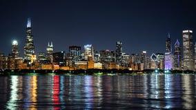 Σικάγο τή νύχτα - καταπληκτικός ορίζοντας - ΣΙΚΑΓΟ, ΗΠΑ - 12 ΙΟΥΝΊΟΥ 2019 στοκ φωτογραφία με δικαίωμα ελεύθερης χρήσης