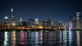 Σικάγο τή νύχτα - καταπληκτικός ορίζοντας - ΣΙΚΑΓΟ, ΗΠΑ - 12 ΙΟΥΝΊΟΥ 2019 στοκ φωτογραφία