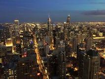 Σικάγο το βράδυ στοκ εικόνα