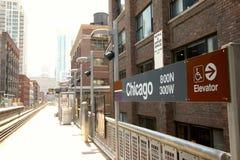 Σικάγο CTA στοκ εικόνες με δικαίωμα ελεύθερης χρήσης