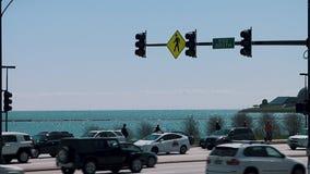 ΣΙΚΑΓΟ, ΙΛΛΙΝΟΙΣ - 30 Απριλίου 2015 άποψη εικονικής παράστασης πόλης Millennium Park του Μίτσιγκαν αμερικανικών λιμνών απόθεμα βίντεο