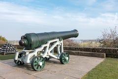 ΣΙΚΑΛΗ, ΑΝΑΤΟΛΗ SUSSEX/UK - 11 ΜΑΡΤΊΟΥ: Άποψη ενός πυροβόλου στο Castle Στοκ εικόνα με δικαίωμα ελεύθερης χρήσης