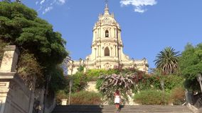Σικελία, modica, καθεδρικός ναός του SAN Giorgio απόθεμα βίντεο