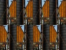 Σιλό σίτου εργοστασίων και σχέδια μορφών στοκ φωτογραφίες με δικαίωμα ελεύθερης χρήσης