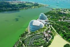 Σινγκαπούρη τον Απρίλιο του 2018 Η άποψη από τη μαρίνα τελευταίων ορόφων στρώνει με άμμο το ξενοδοχείο Στοκ εικόνα με δικαίωμα ελεύθερης χρήσης