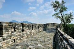 Σινικό Τείχος του Ναντζίνγκ ming Στοκ Εικόνες