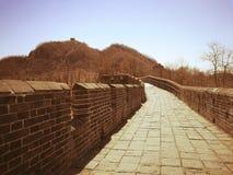 Σινικό Τείχος Hushan στο εκλεκτής ποιότητας ύφος Στοκ Φωτογραφία