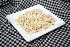 Σιτάρια κεχριού στο άσπρο πιάτο 0027 Στοκ εικόνες με δικαίωμα ελεύθερης χρήσης