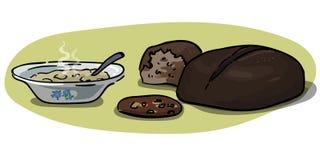 Σιτάρια - oatmeal και σίκαλης διάνυσμα ψωμιού Στοκ εικόνα με δικαίωμα ελεύθερης χρήσης