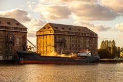 σιτάρι ανελκυστήρων παλαιό Στοκ φωτογραφίες με δικαίωμα ελεύθερης χρήσης
