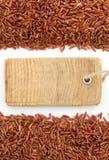 Σιτάρι ρυζιού στο λευκό Στοκ Εικόνες