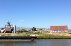 Σιταποθήκη στον ποταμό Petaluma, Καλιφόρνια στοκ εικόνα με δικαίωμα ελεύθερης χρήσης