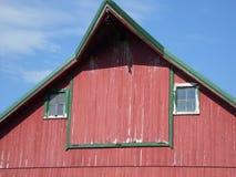 Σιταποθήκη χώρας, κόκκινο και πράσινος στοκ εικόνες