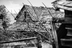 Σιταποθήκη Collasing στην ανατολική περιοχή της Ουάσιγκτον ` s Palouse Στοκ φωτογραφία με δικαίωμα ελεύθερης χρήσης