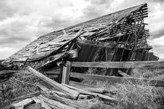 Σιταποθήκη Collasing στην ανατολική περιοχή της Ουάσιγκτον ` s Palouse Στοκ Εικόνες