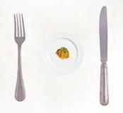 σιτηρέσιο έννοιας που τρώει τη στάση φωτογραφιών Στοκ Εικόνες