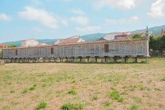 Σιτοβολώνας Horreo Carnota, Γαλικία, Ισπανία Στοκ εικόνα με δικαίωμα ελεύθερης χρήσης