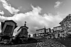 Σιτοβολώνες Horreos - Lindoso - Πορτογαλία Στοκ Φωτογραφία