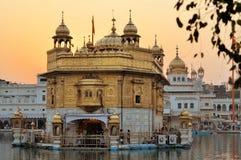 Σιχ ιερός χρυσός ναός σε Amritsar, Punjab, Ινδία Στοκ Εικόνες
