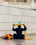 Σιχ που καθορίζει το τουρμπάνι της Στοκ φωτογραφία με δικαίωμα ελεύθερης χρήσης