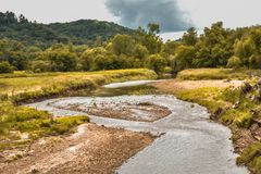 Σιωπή και ειρήνη κατά μήκος του ποταμού της Τουρκίας Στοκ εικόνες με δικαίωμα ελεύθερης χρήσης