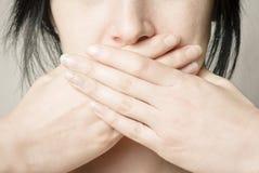 σιωπή κοριτσιών Στοκ Εικόνες