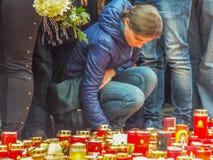 Σιωπή Μάρτιος για τα colective θύματα λεσχών Στοκ εικόνες με δικαίωμα ελεύθερης χρήσης