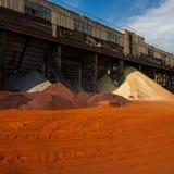 Σιδηρομετάλλευμα, άμμος, αμμοχάλικο στοκ φωτογραφία