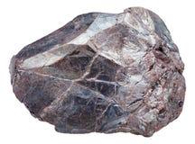 Σιδηρομετάλλευμα βράχου αιματίτη, αιματίτης που απομονώνεται Στοκ Εικόνα