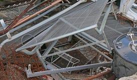 σιδηρούχος υλική κατάθεση σε υλικά οδόστρωσης στοκ εικόνα