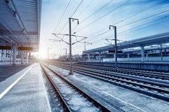 Σιδηροδρομικοί σταθμοί και τραίνα Στοκ Εικόνες