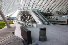 Σιδηροδρομικός σταθμός Λιέγη-Guillemins Στοκ Φωτογραφίες