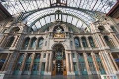 Σιδηροδρομικός σταθμός σε Antwerpen, Βέλγιο Στοκ εικόνα με δικαίωμα ελεύθερης χρήσης