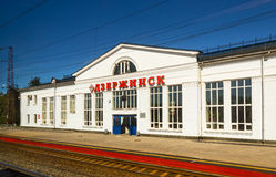 Σιδηροδρομικός σταθμός σε Dzerzhinsk Nizhny Novgorod στη Ρωσία στοκ φωτογραφίες