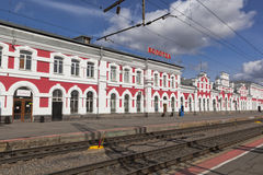 Σιδηροδρομικός σταθμός στην πόλη Vologda, Ρωσία Στοκ φωτογραφία με δικαίωμα ελεύθερης χρήσης