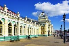 Σιδηροδρομικός σταθμός στο Ιρκούτσκ, ανατολική Σιβηρία, Ρωσική Ομοσπονδία στοκ εικόνα με δικαίωμα ελεύθερης χρήσης