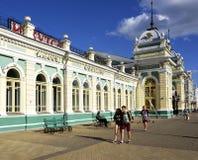 Σιδηροδρομικός σταθμός στο Ιρκούτσκ, ανατολική Σιβηρία, Ρωσική Ομοσπονδία στοκ φωτογραφία με δικαίωμα ελεύθερης χρήσης