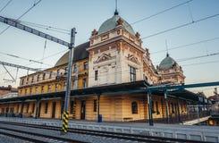 Σιδηροδρομικός σταθμός στο Πίλζεν Στοκ Φωτογραφίες