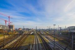 Σιδηροδρομικός σταθμός της Βασιλείας SBB στην Ελβετία Στοκ Φωτογραφία