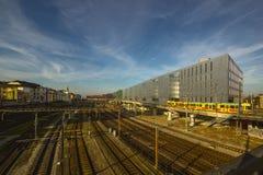 Σιδηροδρομικός σταθμός της Βασιλείας SBB στην Ελβετία Στοκ Φωτογραφίες