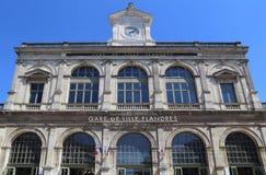 Σιδηροδρομικός σταθμός της Λίλλης, Γαλλία Στοκ φωτογραφία με δικαίωμα ελεύθερης χρήσης