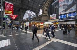 Σιδηροδρομικός σταθμός της Φρανκφούρτης, Γερμανία Στοκ Εικόνα
