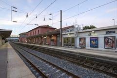 Σιδηροδρομικός σταθμός του Αντίμπες, Γαλλία Στοκ Φωτογραφία