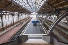 Σιδηροδρομικός σταθμός του Λούμπεκ Hauptbahnhof, Γερμανία Στοκ Εικόνες
