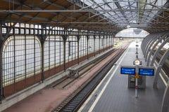 Σιδηροδρομικός σταθμός του Λούμπεκ Hauptbahnhof, Γερμανία Στοκ εικόνα με δικαίωμα ελεύθερης χρήσης