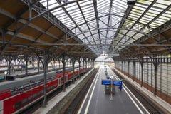 Σιδηροδρομικός σταθμός του Λούμπεκ Hauptbahnhof, Γερμανία Στοκ Φωτογραφίες